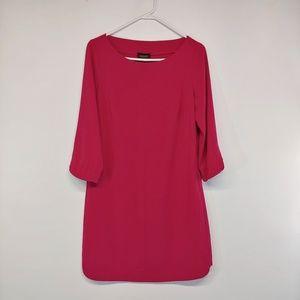 Laundry by Shelli S Boat Neck Shift Dress Pink Fiz